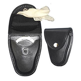 Gould & Goodrich K-Force Handcuff Case / Glove Pouch w/ Brass Hardware Plain Black