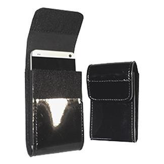 Gould & Goodrich Leather Smart Phone Holder Black Hi-Gloss