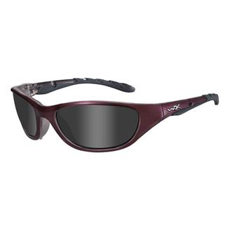 Wiley X AirRage Liquid Plum (frame) - Smoke Gray (lens)