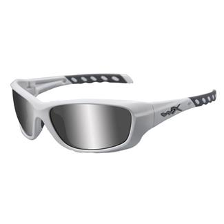 Wiley X Gravity Matte White Silver Flash (Smoke Gray)