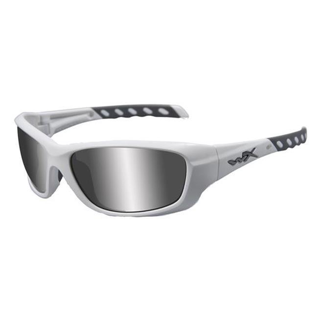 Wiley X Gravity Matte White Silver Flash (Smoke Gray)