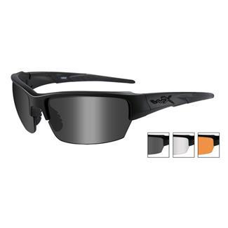 Wiley X Saint Matte Black Smoke Gray / Clear / Light Rust 3 Lenses
