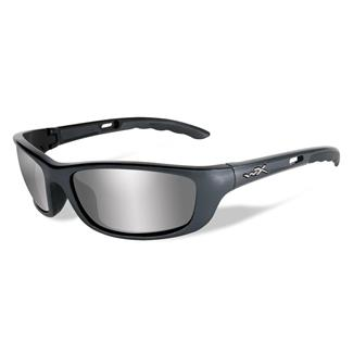 Wiley X P-17 Gunmetal Gray (frame) - Silver Flash (Smoke Gray) (lens)