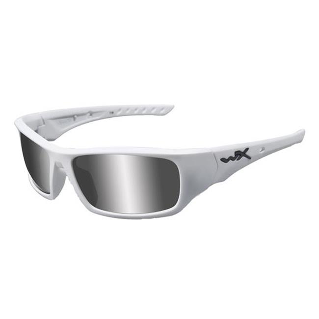 Wiley X Arrow Polarized Silver Flash Matte White