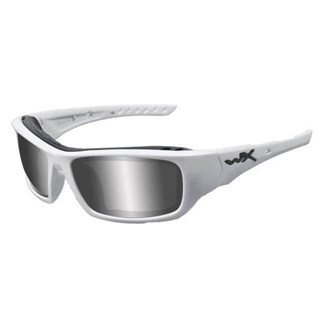Wiley X Arrow Polarized Silver Flash Matte White