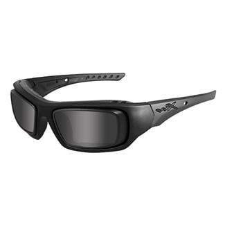 Wiley X Arrow Smoke Gray Matte Black with Rx Rim & Demo Lens