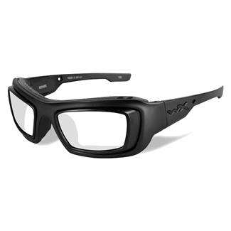 Wiley X Knife Smoke Gray Matte Black with Rx Rim & Demo Lens