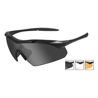Wiley X Vapor Matte Black 3 Lenses Smoke Gray / Clear / Light Rust
