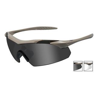 Wiley X Vapor Tan (frame) - Smoke Gray / Clear (2 Lenses)