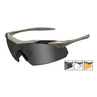 Wiley X Vapor 3 Lenses Smoke Gray / Clear / Light Rust Tan
