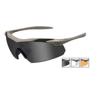 Wiley X Vapor Tan Smoke Gray / Clear / Light Rust 3 Lenses