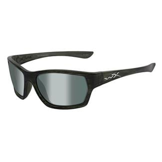 Wiley X Moxy Olive Stripe (frame) - Polarized Green Platinum Flash (lens)