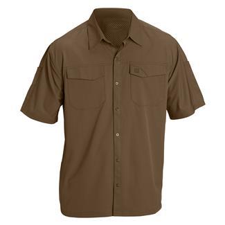 5.11 Freedom Flex Short Sleeve Woven Shirts Battle Brown