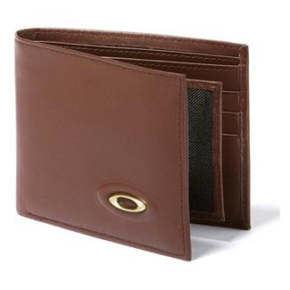 Oakley Leather Wallet Earth Brown