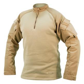 Tru-Spec Poly / Spandex Ripstop 1/4 Zip Winter Combat Shirts Khaki / Sand