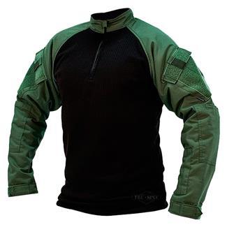 TRU-SPEC Poly / Spandex Ripstop 1/4 Zip Winter Combat Shirts Olive Drab / Black