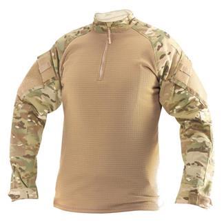 TRU-SPEC Poly / Spandex Ripstop 1/4 Zip Winter Combat Shirts MultiCam / Coyote
