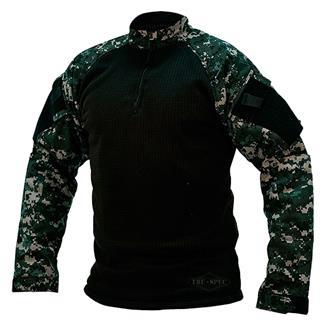 Tru-Spec Poly / Spandex Ripstop 1/4 Zip Winter Combat Shirts Urban Digital / Black