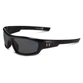 Under Armour Power Storm Gray Polarized Shiny Black