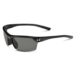 Under Armour Zone 2.0 Storm Shiny Black Gray Storm Polarized