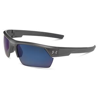 Under Armour Igniter 2.0 Storm Satin Carbon Gray Storm Polarized w/ Blue Mirror