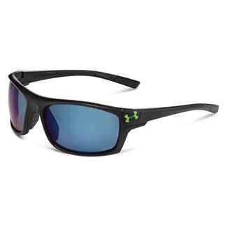 Under Armour Keepz Storm Gray Storm Polarized w/ Blue Mirror Satin Black