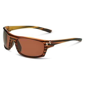 Under Armour Keepz Storm Satin Wood Grain (frame) - Brown Storm Polarized (lens)
