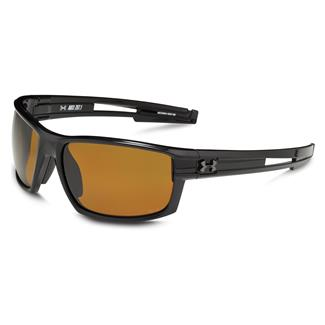 Under Armour Captain Storm Shiny Black Amber Storm Polarized