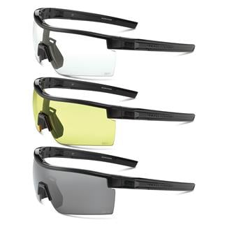 Under Armour Freedom Shiny Black Gray / Clear / Yellow 3 Lenses
