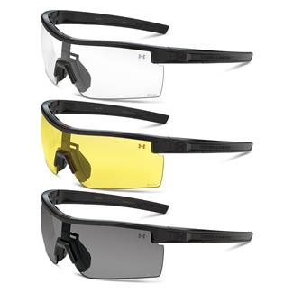Under Armour Freedom Satin Black Gray / Clear / Yellow 3 Lenses