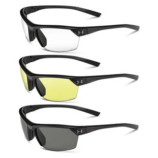 Under Armour Zone 2.0 WWP Satin Black Gray / Clear / Yellow 3 Lenses