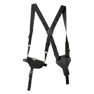Uncle Mike's Cross Harness Horizontal Shoulder Holster Black