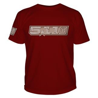 5.11 Gunmetal T-Shirt Cardinal