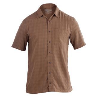 5.11 Short Sleeve Covert Shirts Select Battle Brown
