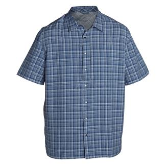 5.11 Short Sleeve Covert Shirts Performance Cobalt Blue
