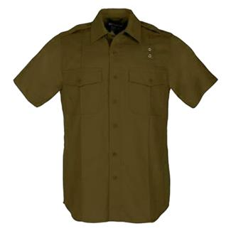 5.11 Short Sleeve Taclite PDU Class A Shirts Brown