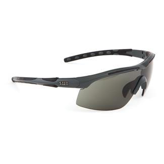 5.11 Raid Eyewear (3 Lens) Charcoal (frame) - Plain Smoke / Ballistic Orange / Clear (3 lenses)