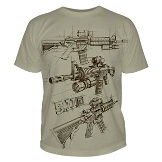 5.11 AR Sketch T-Shirts Tan