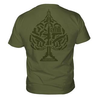 5.11 Ace of Blades T-Shirts OD Green