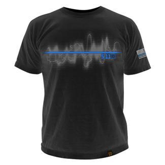 5.11 The Thin Blue Line T-Shirts Black