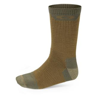 Oakley Performance Wool Crew Socks Coyote