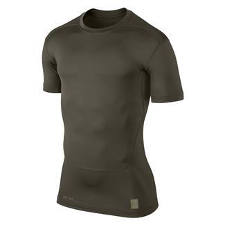 NIKE Pro Combat Core Compression SS Shirt Cargo Khaki