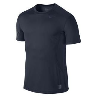 NIKE Pro Combat Core Fitted Shirt Navy