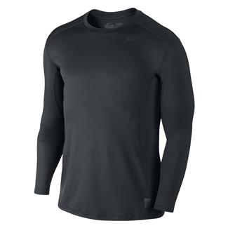 NIKE Long Sleeve Pro Combat Core Fitted Shirt Black