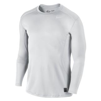NIKE Long Sleeve Pro Combat Core Fitted Shirt White