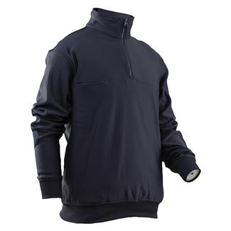 24-7 Series Grid Fleece Zip Thru Job Shirt Navy