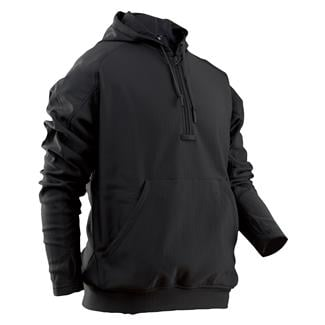 24-7 Series Grid Fleece Hoodie Black