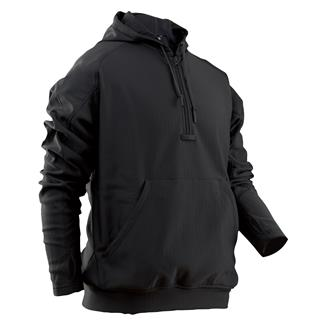 24-7 Series Grid Fleece Hoodie Black