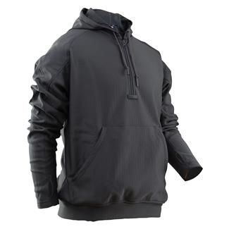 24-7 Series Grid Fleece Hoodie Charcoal