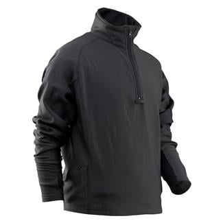 24-7 Series Zip Thru Grid Fleece Pullover Black